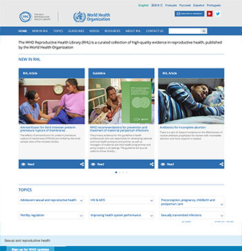 The WHO Reproductive Health Library